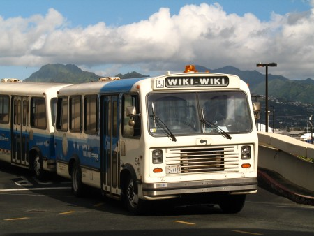 Wiki Wiki bus at the Honolulu International Airport